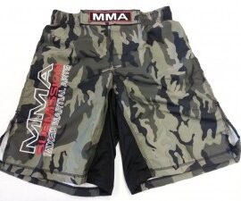 Woldorf USA SMALL MMA Grappling Board Shorts Ripstop mixed martial arts White A